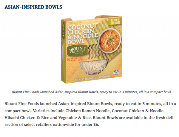 Refrigerated & Frozen Foods Introduces Blount Bowls